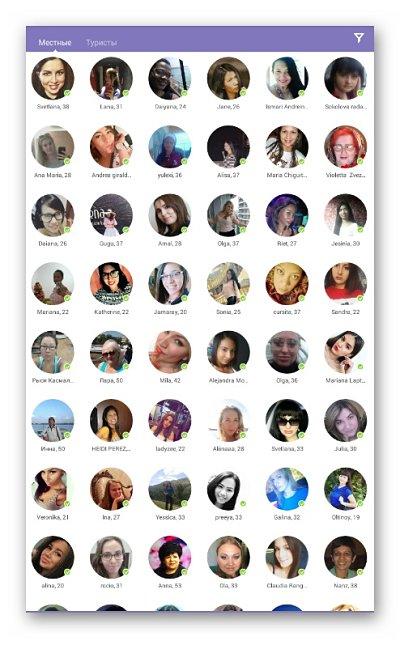 список пользователей онлайн знакомств